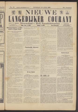 Nieuwe Langedijker Courant 1930-07-22