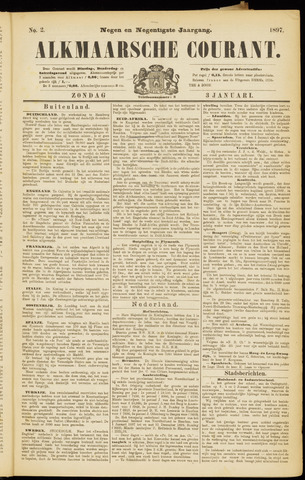 Alkmaarsche Courant 1897-01-03