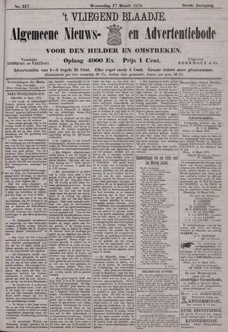 Vliegend blaadje : nieuws- en advertentiebode voor Den Helder 1875-03-17