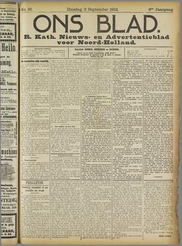 Ons Blad : katholiek nieuwsblad voor N-H 1912-09-03