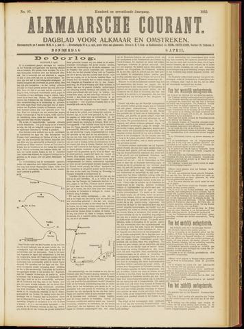 Alkmaarsche Courant 1915-04-08