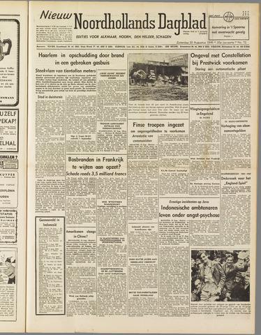 Nieuw Noordhollandsch Dagblad : voor Alkmaar en omgeving 1949-08-20