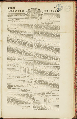 Alkmaarsche Courant 1853-10-10