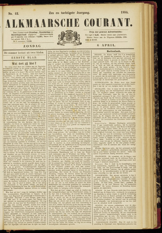 Alkmaarsche Courant 1884-04-06