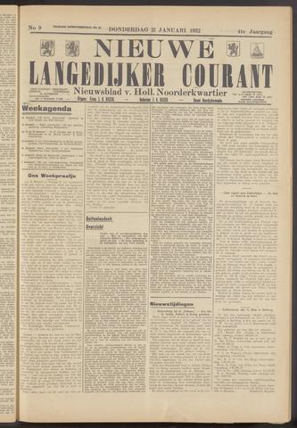 Nieuwe Langedijker Courant 1932-01-21