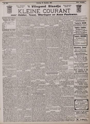 Vliegend blaadje : nieuws- en advertentiebode voor Den Helder 1902-11-29