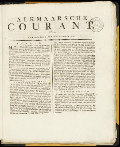 Alkmaarsche Courant 1814-09-26