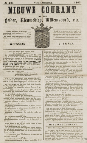 Nieuwe Courant van Den Helder 1865-06-07
