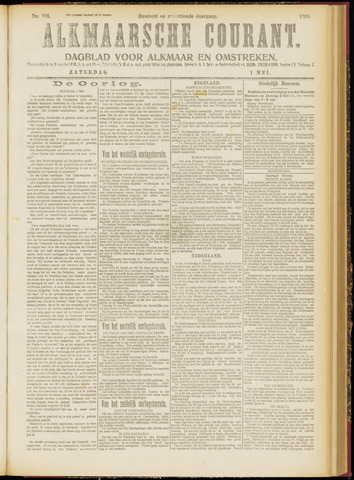 Alkmaarsche Courant 1915-05-01