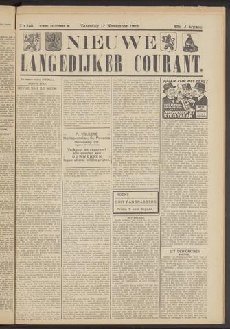 Nieuwe Langedijker Courant 1923-11-17