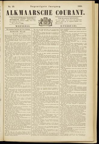 Alkmaarsche Courant 1888-02-22