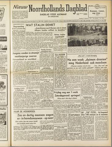 Nieuw Noordhollandsch Dagblad : voor Alkmaar en omgeving 1952-09-22
