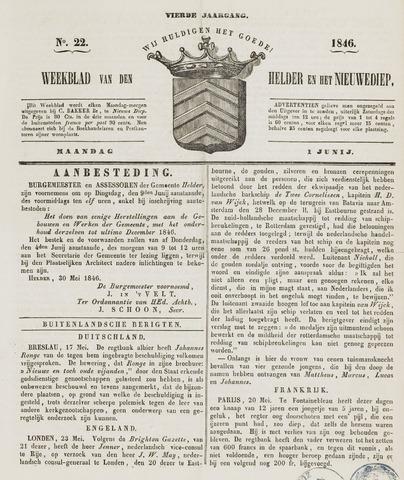 Weekblad van Den Helder en het Nieuwediep 1846-06-01