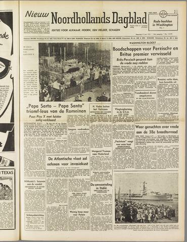 Nieuw Noordhollandsch Dagblad : voor Alkmaar en omgeving 1951-06-04