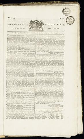 Alkmaarsche Courant 1839-03-04