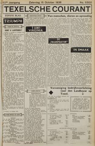 Texelsche Courant 1938-10-15