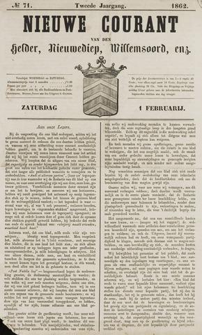 Nieuwe Courant van Den Helder 1862-02-01