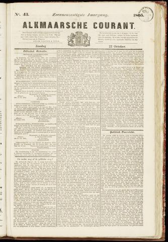 Alkmaarsche Courant 1865-10-22