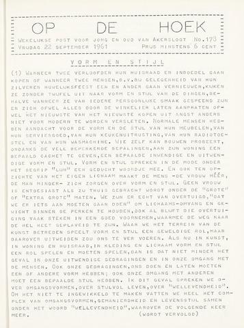 Op De Hoek, weekblad voor Akersloot 1961-09-22