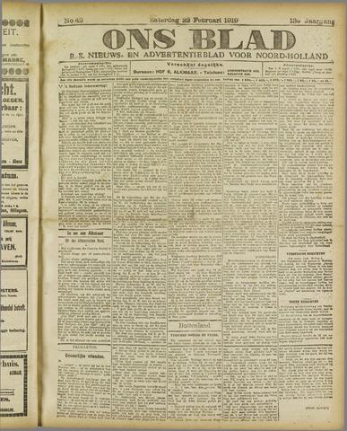 Ons Blad : katholiek nieuwsblad voor N-H 1919-02-22