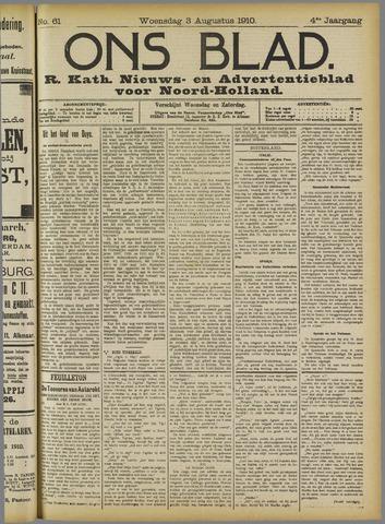 Ons Blad : katholiek nieuwsblad voor N-H 1910-08-03