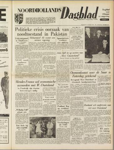 Noordhollands Dagblad : dagblad voor Alkmaar en omgeving 1954-10-25