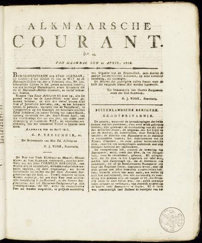 Alkmaarsche Courant 1816-04-22