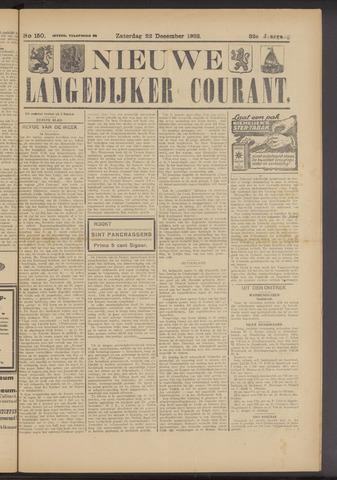 Nieuwe Langedijker Courant 1923-12-22