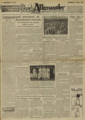 De Vrije Alkmaarder 1948-12-27