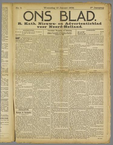 Ons Blad : katholiek nieuwsblad voor N-H 1909-01-13