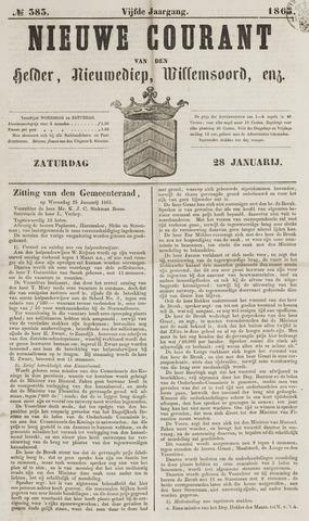 Nieuwe Courant van Den Helder 1865-01-28