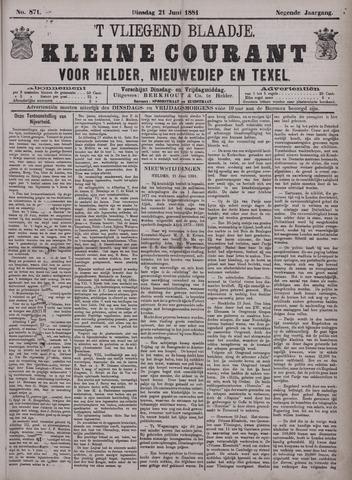 Vliegend blaadje : nieuws- en advertentiebode voor Den Helder 1881-06-21