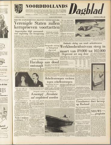 Noordhollands Dagblad : dagblad voor Alkmaar en omgeving 1958-04-09