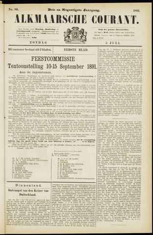 Alkmaarsche Courant 1891-07-05