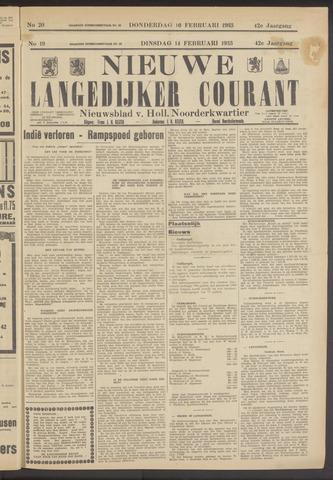 Nieuwe Langedijker Courant 1933-02-14