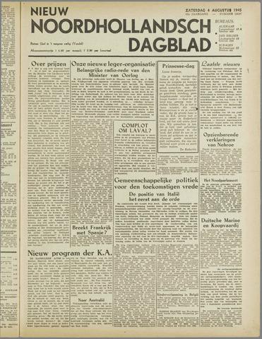Nieuw Noordhollandsch Dagblad : voor Alkmaar en omgeving 1945-08-04