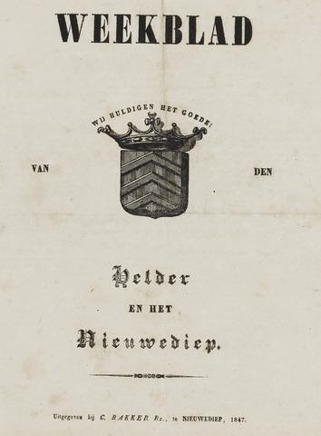 Weekblad van Den Helder en het Nieuwediep 1847-01-04