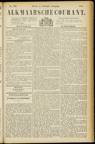 Alkmaarsche Courant 1885-09-16