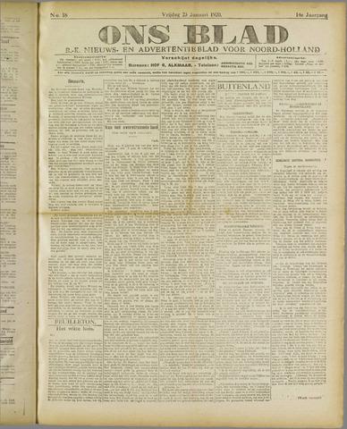 Ons Blad : katholiek nieuwsblad voor N-H 1920-01-23