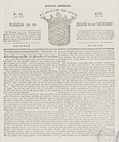 Weekblad van Den Helder en het Nieuwediep 1849-06-11