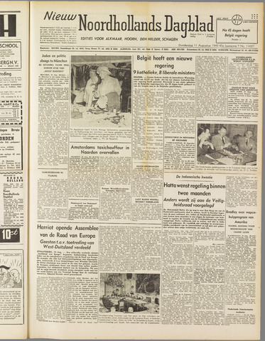 Nieuw Noordhollandsch Dagblad : voor Alkmaar en omgeving 1949-08-11