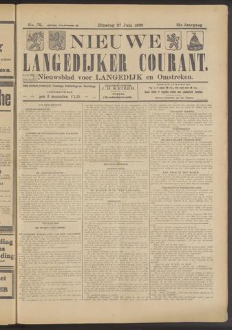 Nieuwe Langedijker Courant 1922-06-27