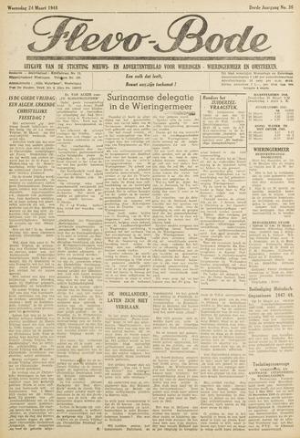 Flevo-bode: nieuwsblad voor Wieringen-Wieringermeer 1948-03-24