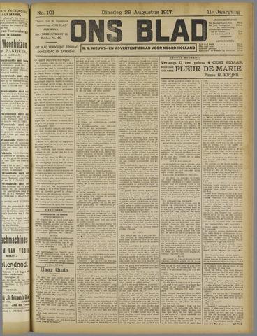 Ons Blad : katholiek nieuwsblad voor N-H 1917-08-28