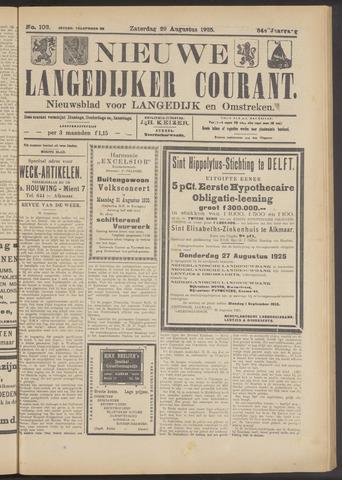 Nieuwe Langedijker Courant 1925-08-29