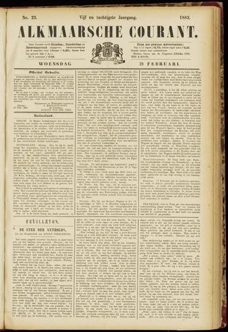 Alkmaarsche Courant 1883-02-21