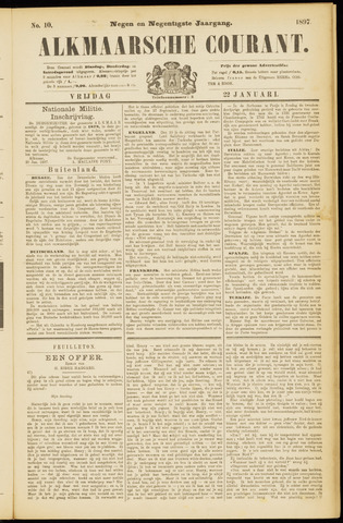 Alkmaarsche Courant 1897-01-22
