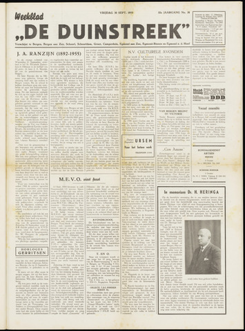 De Duinstreek 1955-09-30