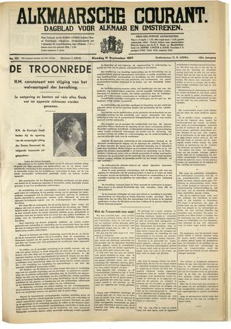 Alkmaarsche Courant 1937-09-21