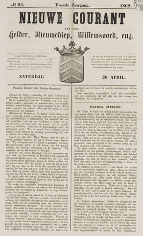 Nieuwe Courant van Den Helder 1862-04-26